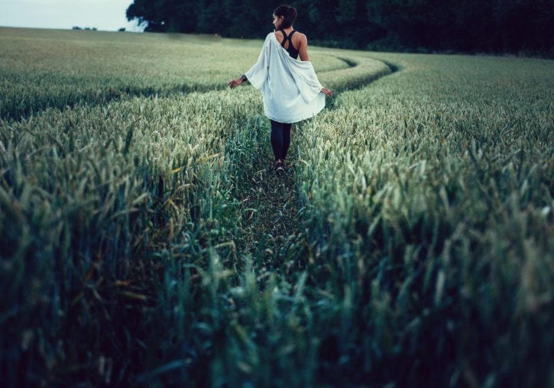 Feminine and masculine disbalance beautiful woman in the field | The Sublime Woman