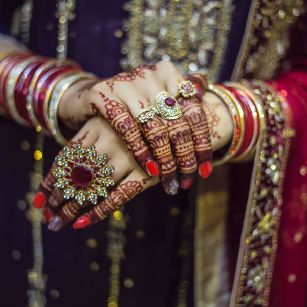 Jewelry: Sacral Meaning of Fingers and rings beautiful Indian bride with adorned hands and fingers   The Sublime Woman