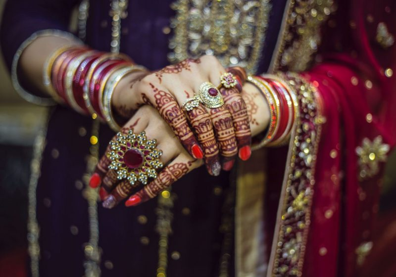 Jewelry: Sacral Meaning of Fingers and rings beautiful Indian bride with adorned hands and fingers | The Sublime Woman