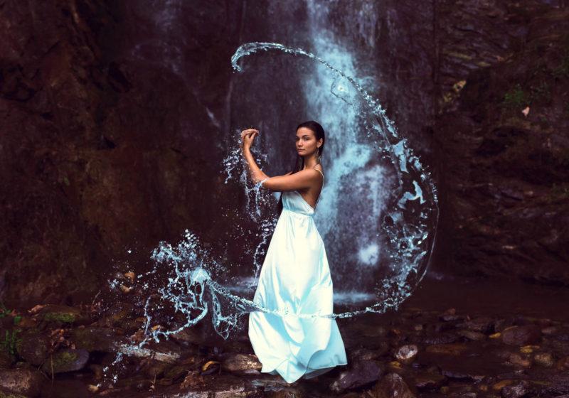 One True Woman's Task beautiful woman by the water element in white dress | The Sublime Woman