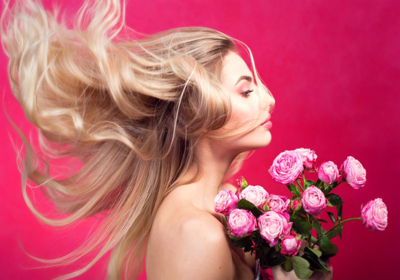 Women against beauty beautiful blonde woman with roses | The Sublime Woman