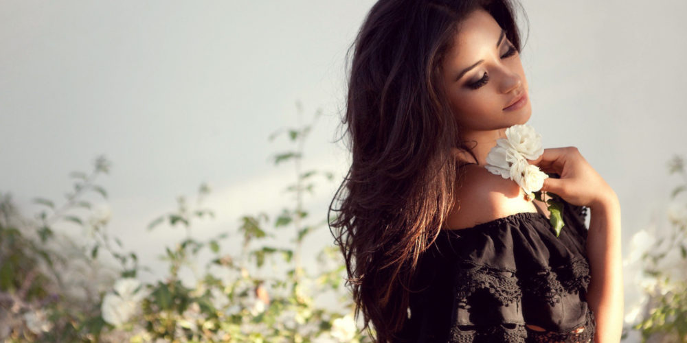 Flaws of Femininity beautiful woman in dress with flowers   The Sublime Woman